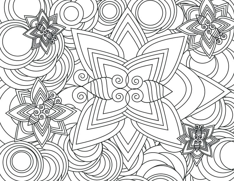 792x612 Complex Design Coloring Pages Complicated Pattern Coloring Pages