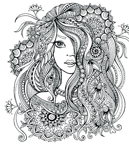 443x500 Hard Pattern Coloring Pages Mandala Designs With Also Color