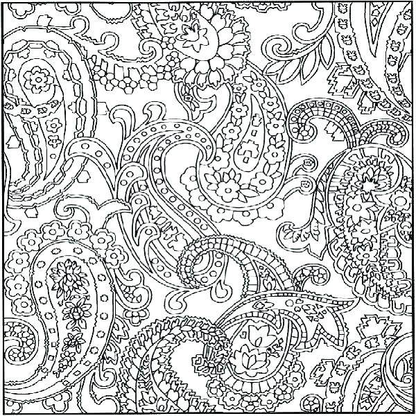 600x600 Printable Design Coloring Pages Patterns Coloring Pages Hard