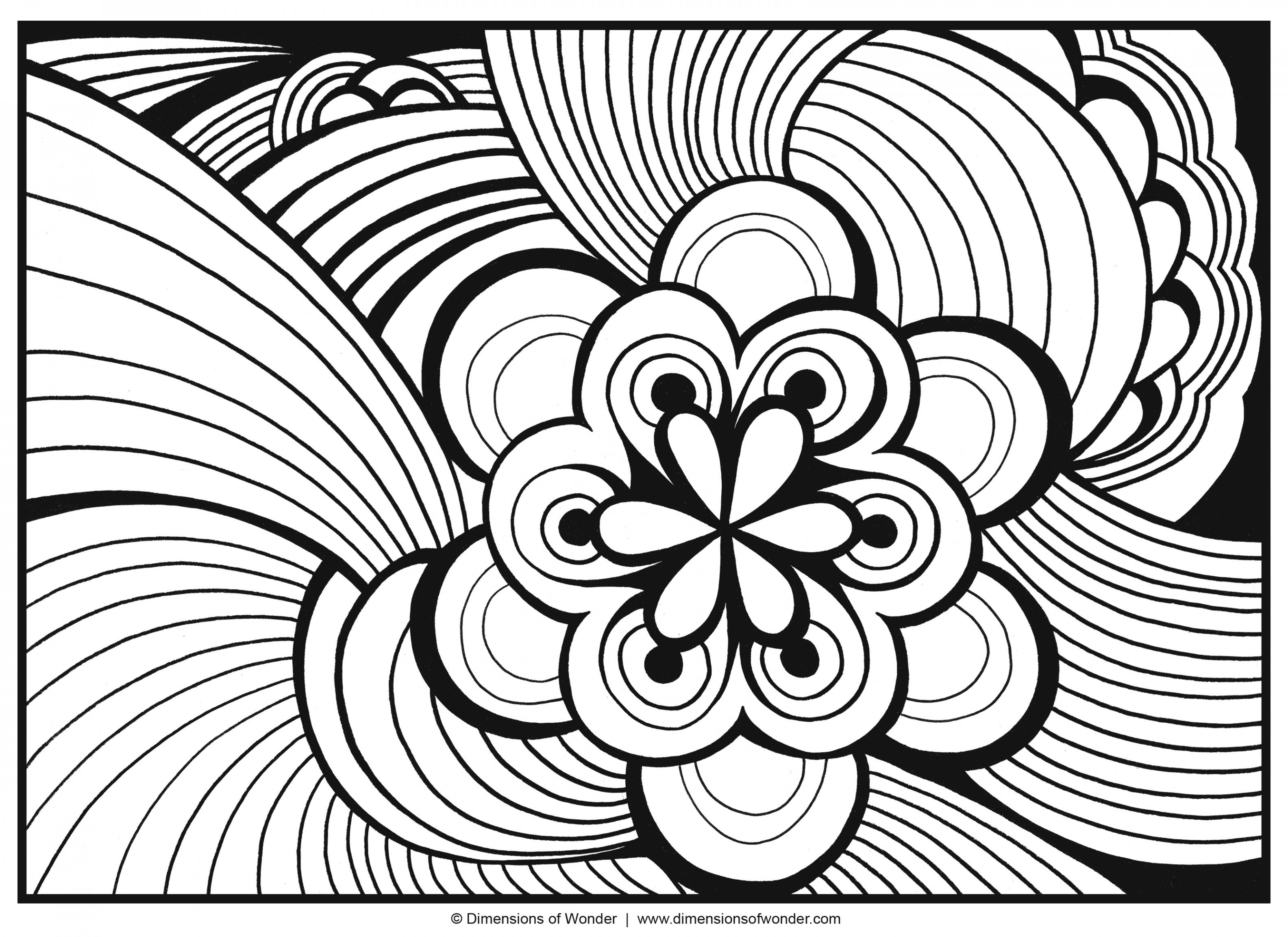 3168x2304 Challenge Weird Design Coloring Pages Teenage Of Flowers