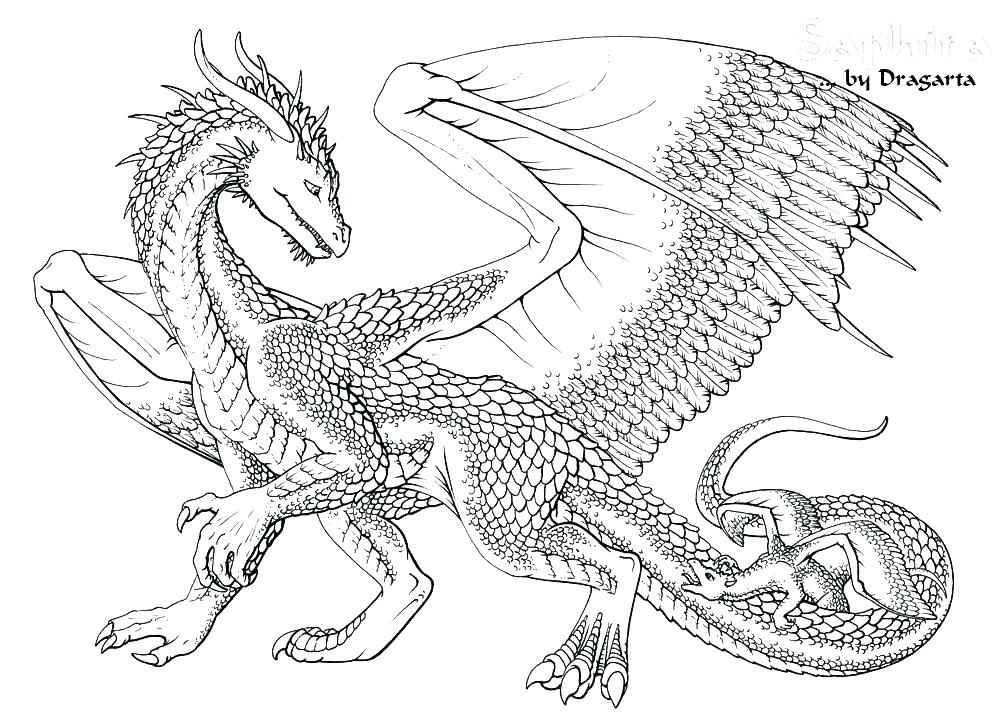 1000x723 Dragon Coloring Pages Printable Hard Dragon Coloring Pages