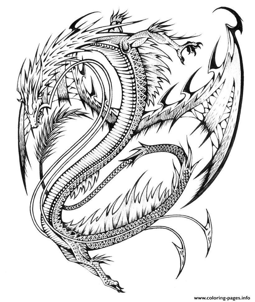 820x974 Fascinating Hard Dragon Coloring Pages For Adults Artcommissionme