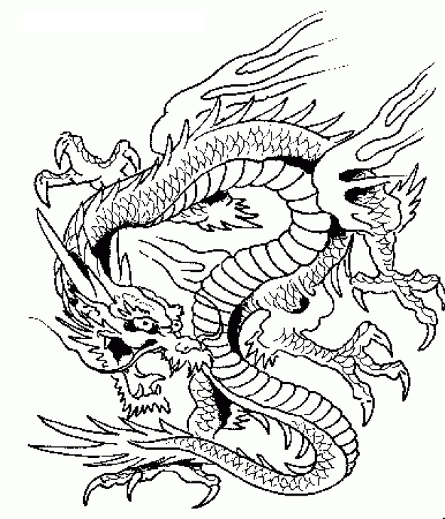626x730 Hard Coloring Pages Of Dragons Bgcentrum