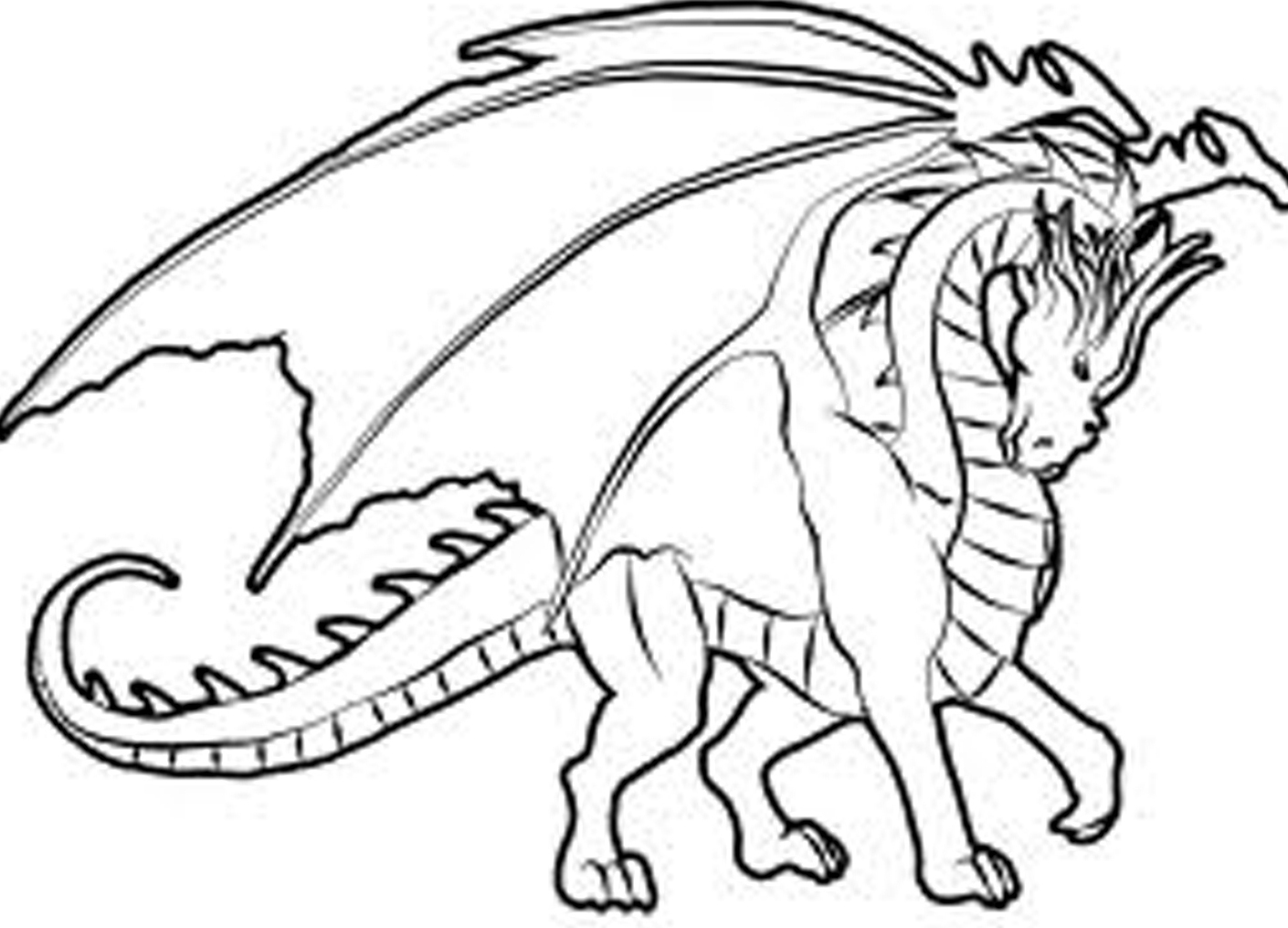 1410x1015 Hard Coloring Pages Of Dragons Great Idea For The Chil'ren