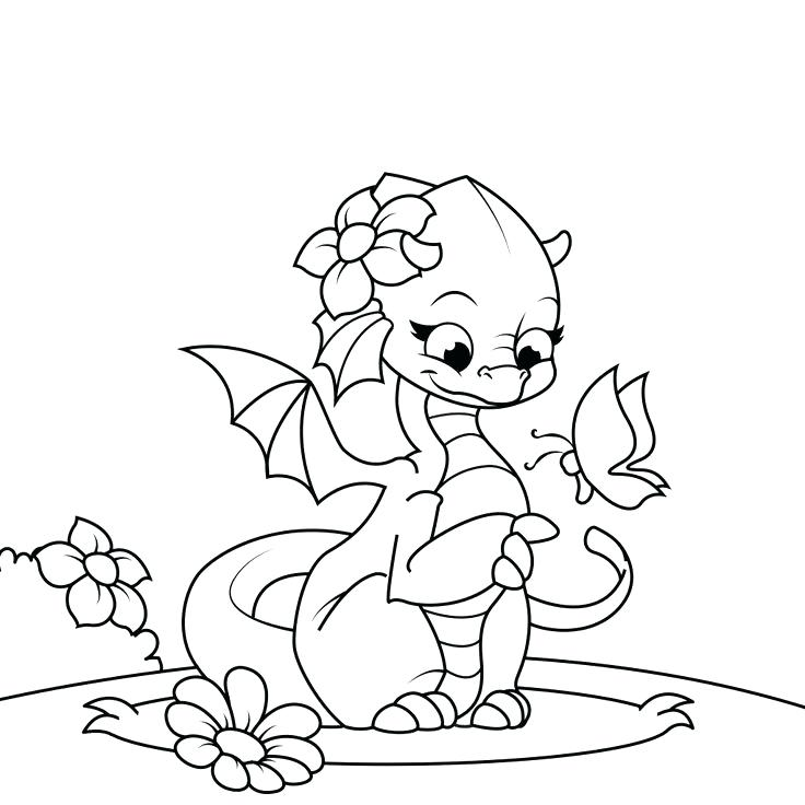 736x736 Awesome Dragon Coloring Page Female Dragon Coloring Page