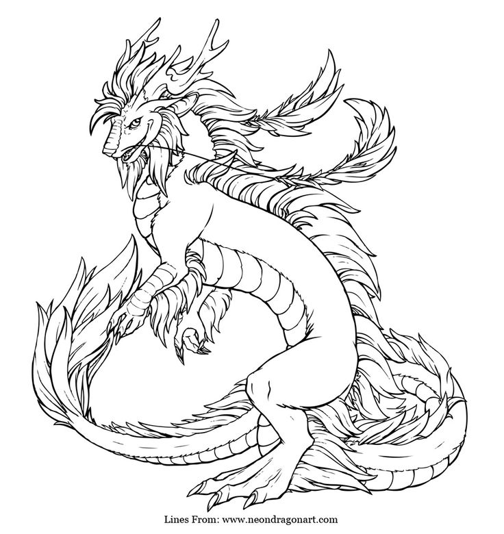 736x780 Imperial Dragon Coloring Page Craft Dragons, Adult