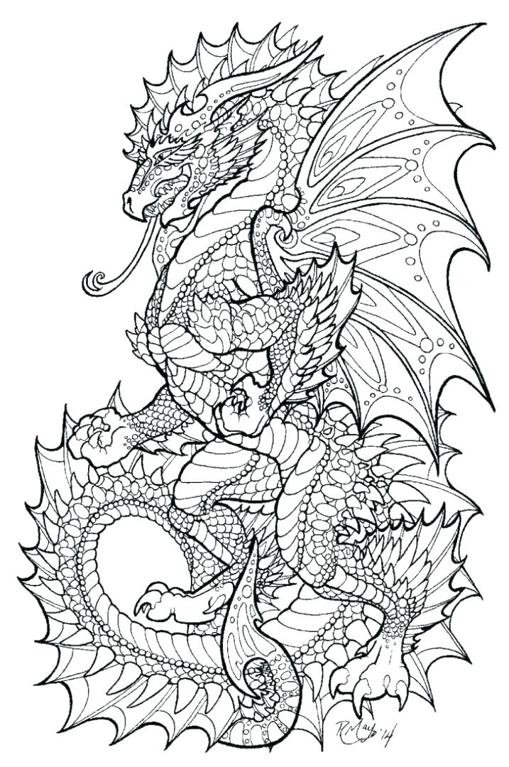 717x1080 Dragon Coloring Pages For Adults