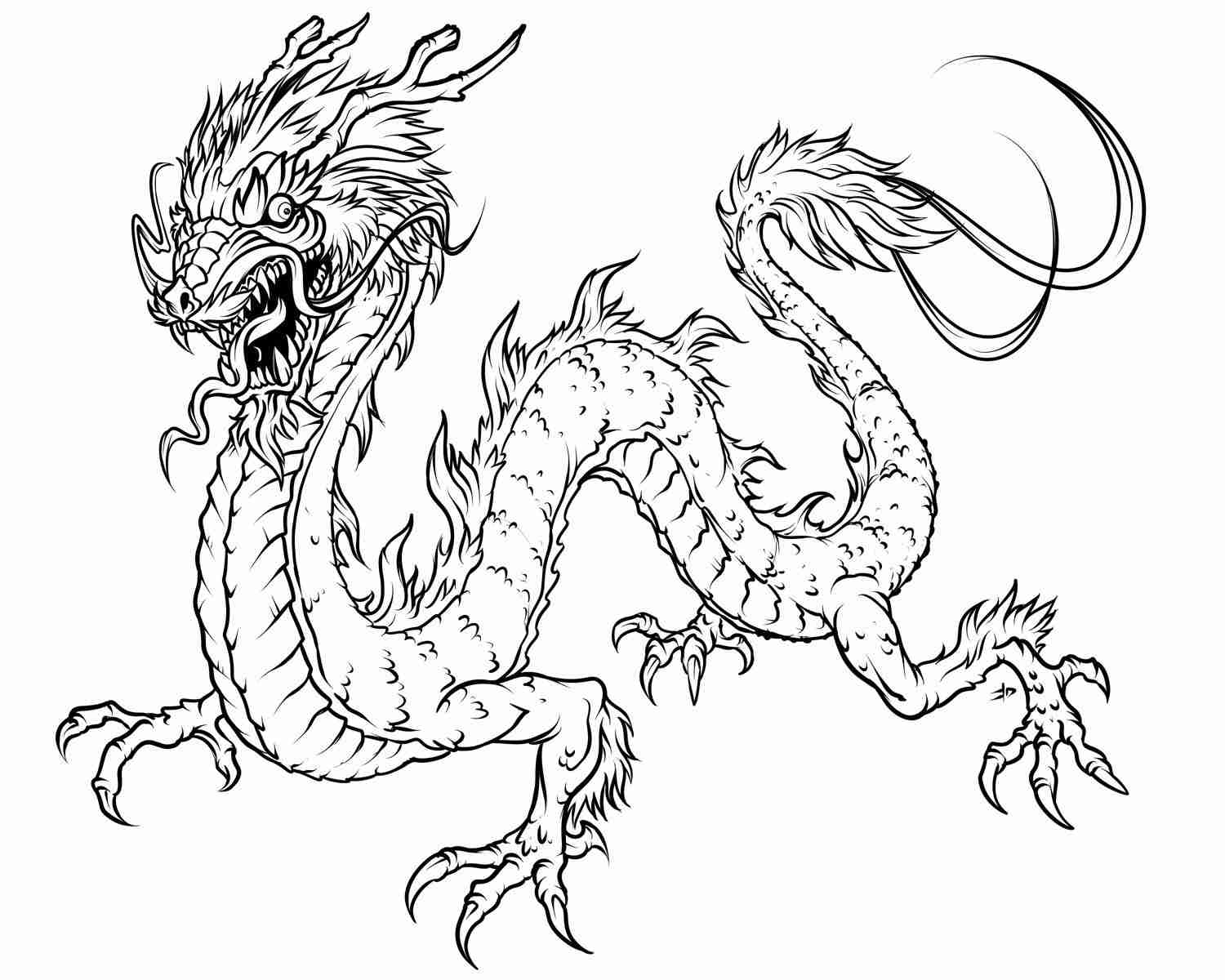 1500x1200 Chinese Dragon Coloring Pages Colouring Free At Olegratiy