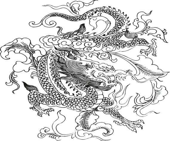 570x475 Dragon Coloring Page Dragon Boat Festival Coloring Pages Dragon