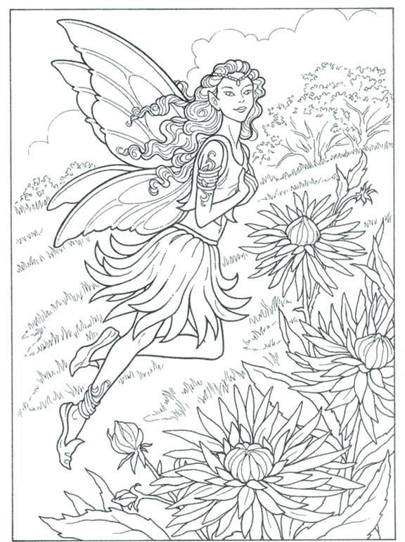 576x770 Fairy Coloring Pages For Adults Fairy Coloring Pages For Adults