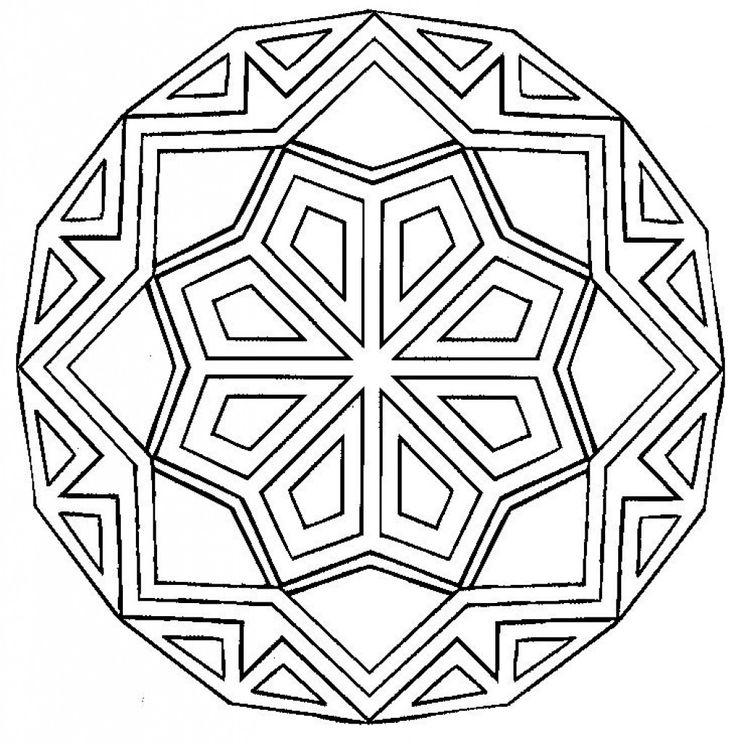 Hard Geometric Coloring Pages