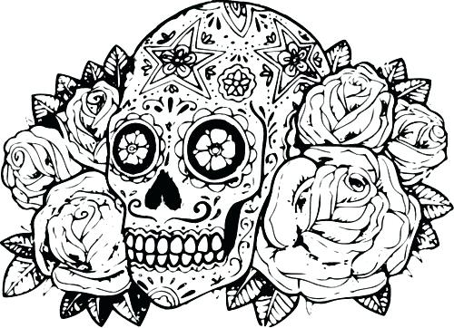 500x362 Difficult Halloween Coloring Pages Coloring Pages Difficult Hard