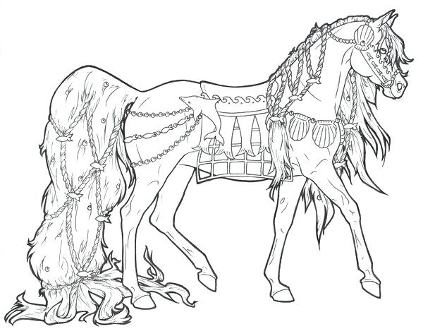Hard Horse Coloring Pages