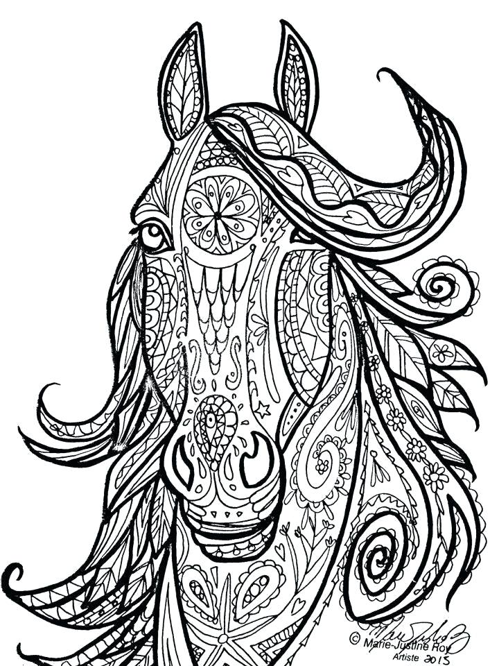 720x960 Hard Horse Coloring Pages View Larger Coloring Pages For Adults