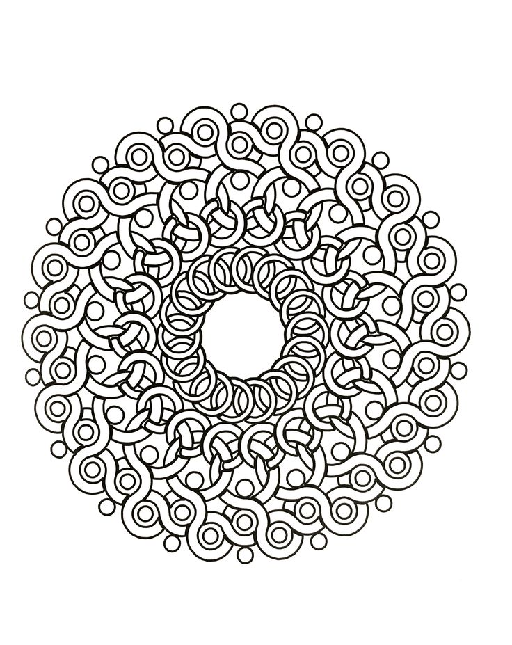 Hard Mandala Coloring Pages