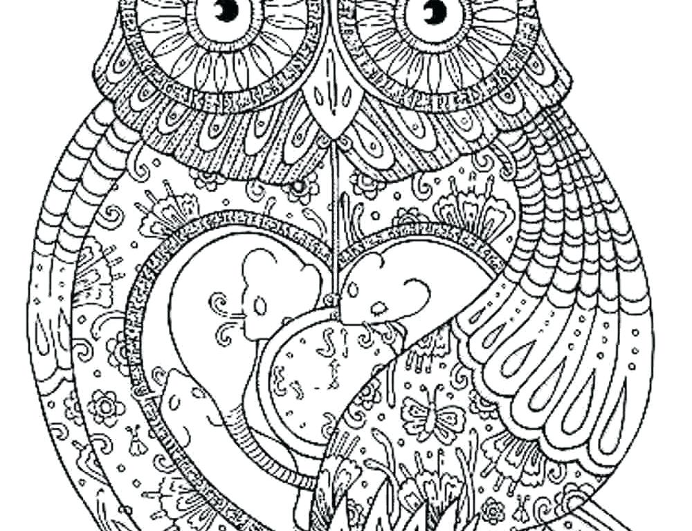 1000x768 Hard Owl Coloring Sheets Free Printable Mandala Coloring Pages