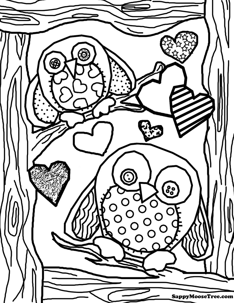 791x1024 Adult Owl Coloring Page