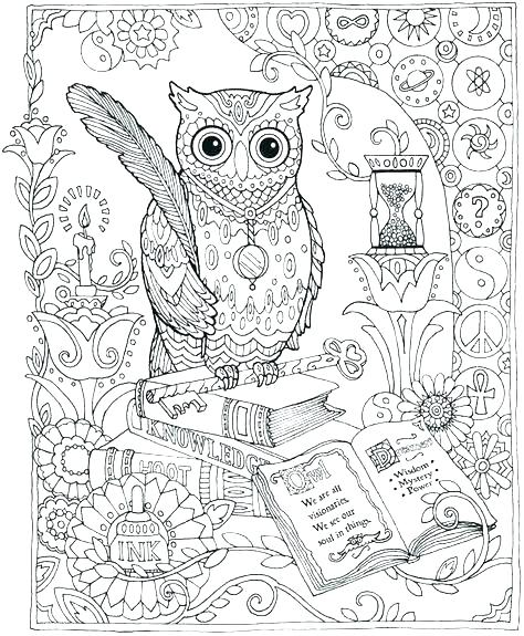 474x575 Owl Color Page Coloring Pages Owls Sheets Of Cute Free Hard