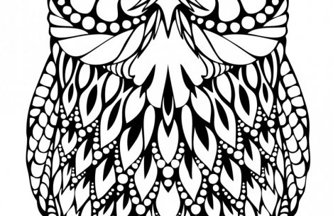 469x304 Hard Owl Coloring Pages Just Colorings