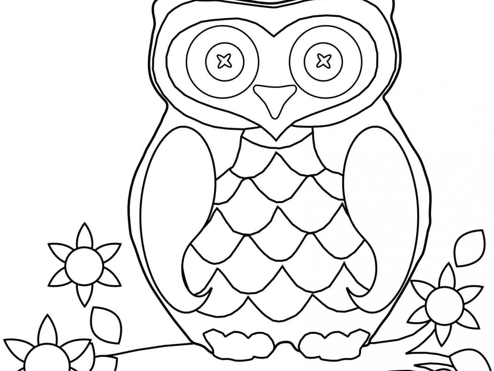 1600x1200 Free Owl Coloring Pages To Print