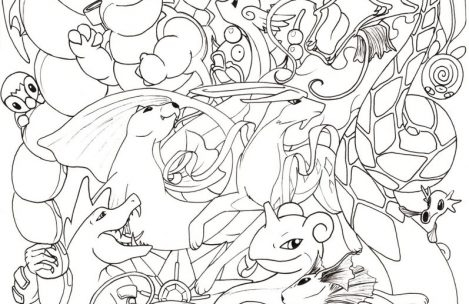 469x304 Hard Coloring Pages Of Pokemon Hard Pokemon Coloring Pages Just