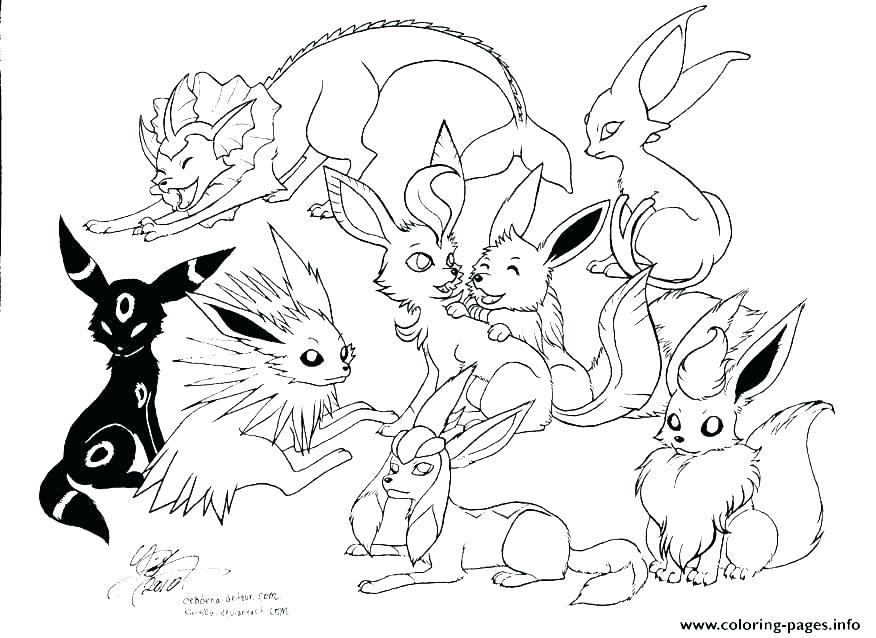 876x638 Pokemon Color Pages