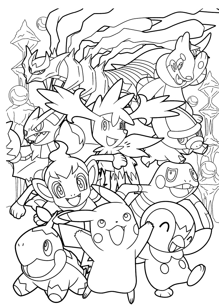750x1051 Pokemon Coloring Pages Hard