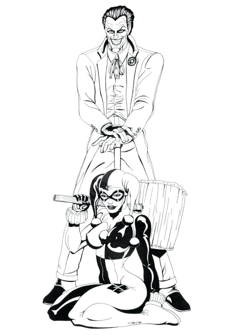 741x1078 Successful Harley Quinn And The Joker Coloring Pages Surprising