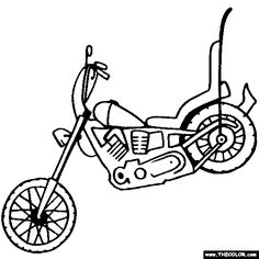 236x236 Harley Davidson Coloring Pages To Print Free Motorcycle Coloring