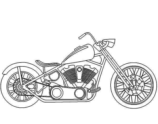 600x472 Harley Davidson Coloring Pages To Print Motorcycles, Awesome