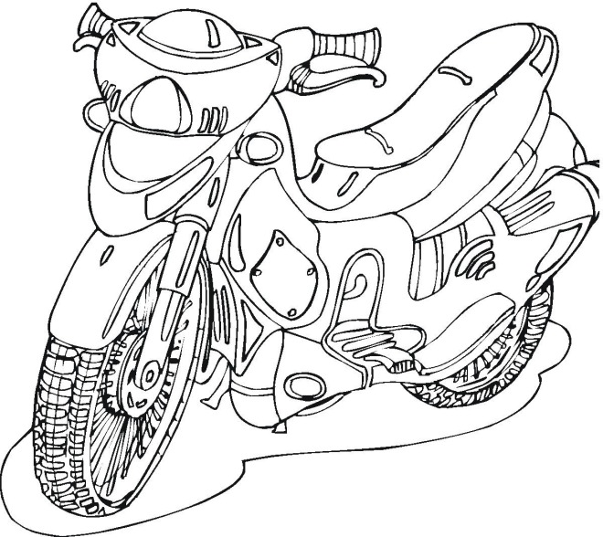 660x588 Free Motorcycle Coloring Page, Scooter Free