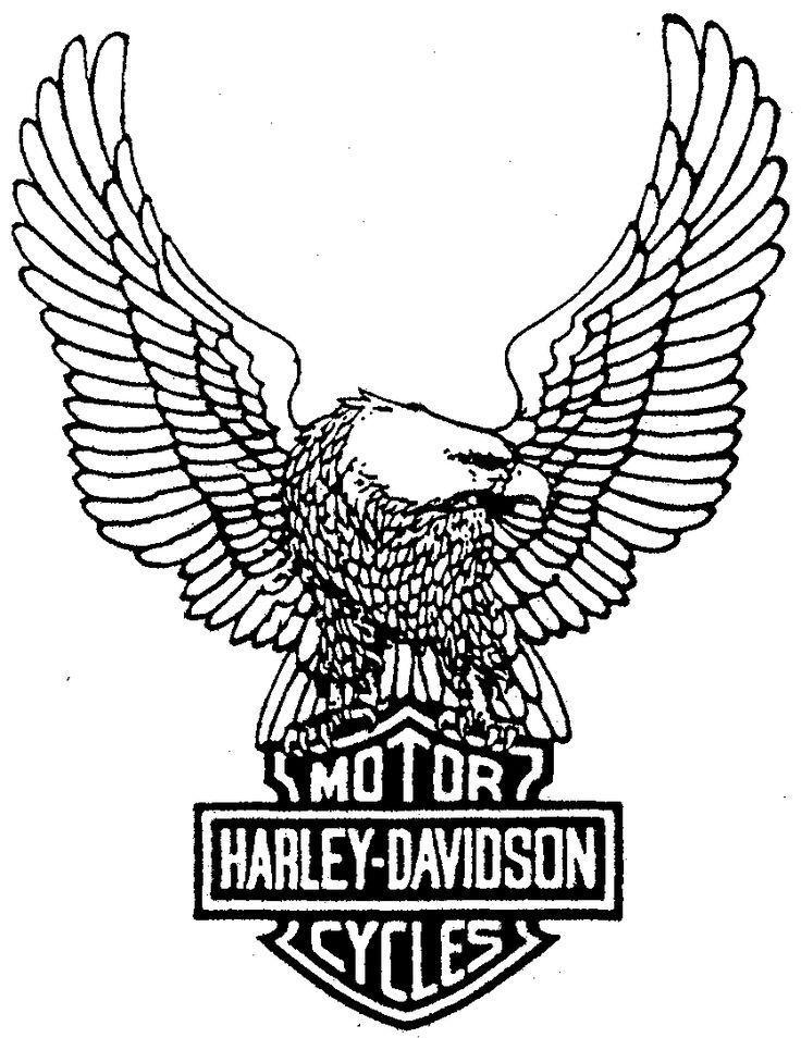 736x954 Harley Davidson Symbol Coloring Page Dibujo Para Imprimir
