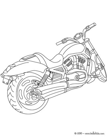 364x470 Harley Davidson Biker Coloring Pages