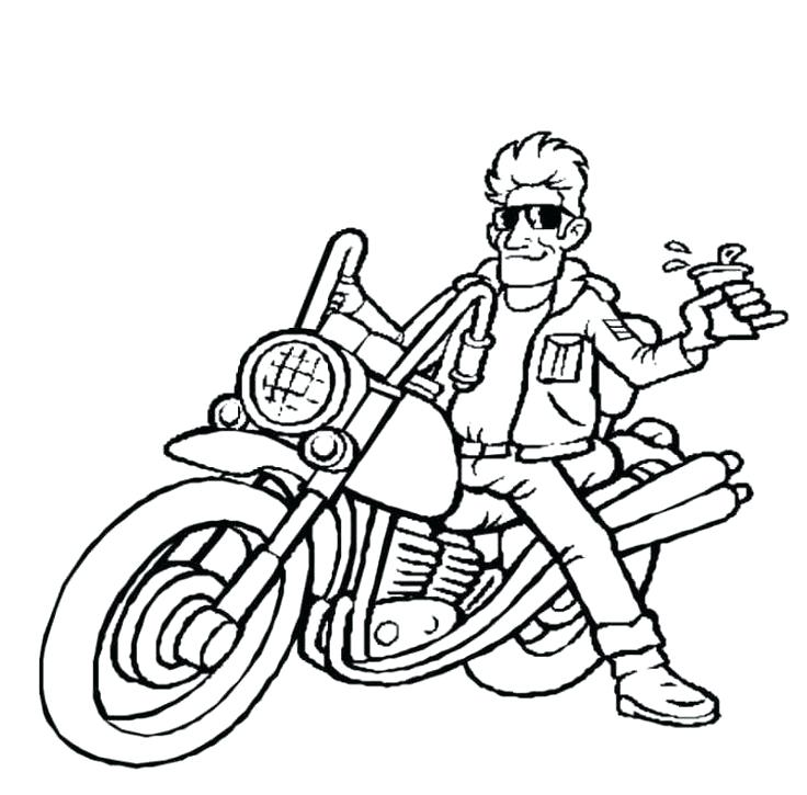 736x725 Motorcycle Coloring Book As Cool Police Motorcycle Coloring Pages