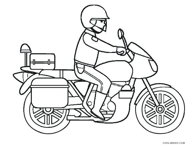 670x515 Motorcycle Coloring Page