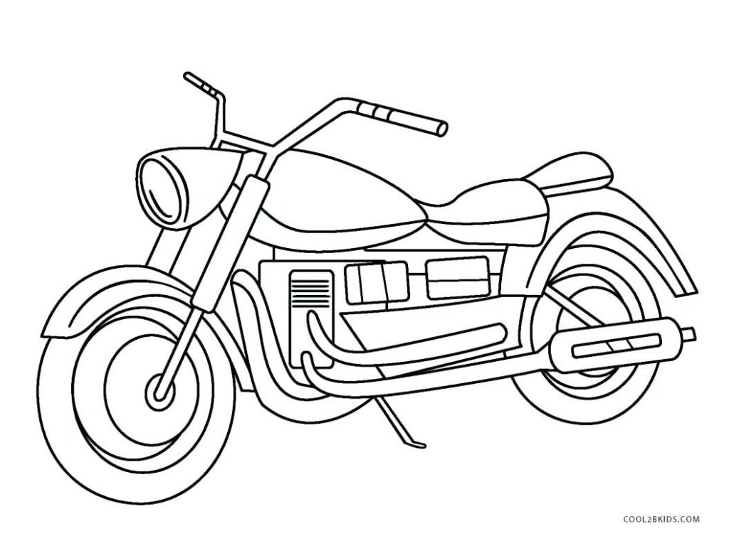 1024x761 Coloring Page Motorcycle Coloring Page Pages Free Motorcycle
