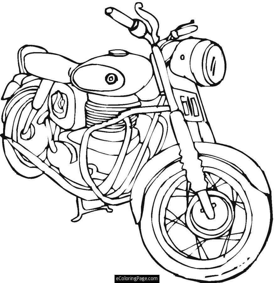 Harley Motorcycle Coloring Pages At Getdrawings Free Download