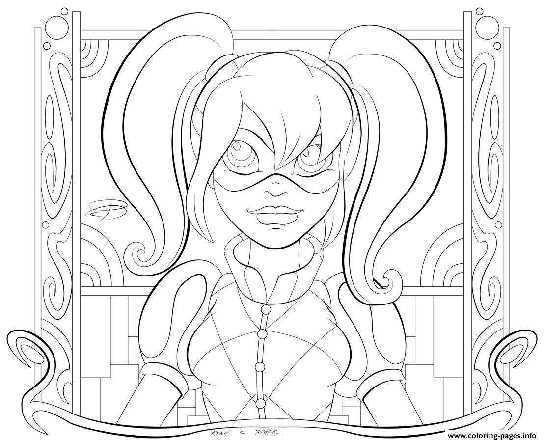 1108x900 Appealing Joker Coloring Page Printable Line Art Image For Harley