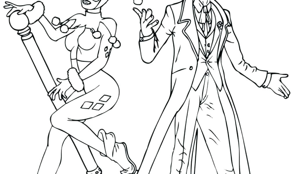 1024x600 Harley Quinn Coloring Pages Beautiful Joker And Harley Quinn