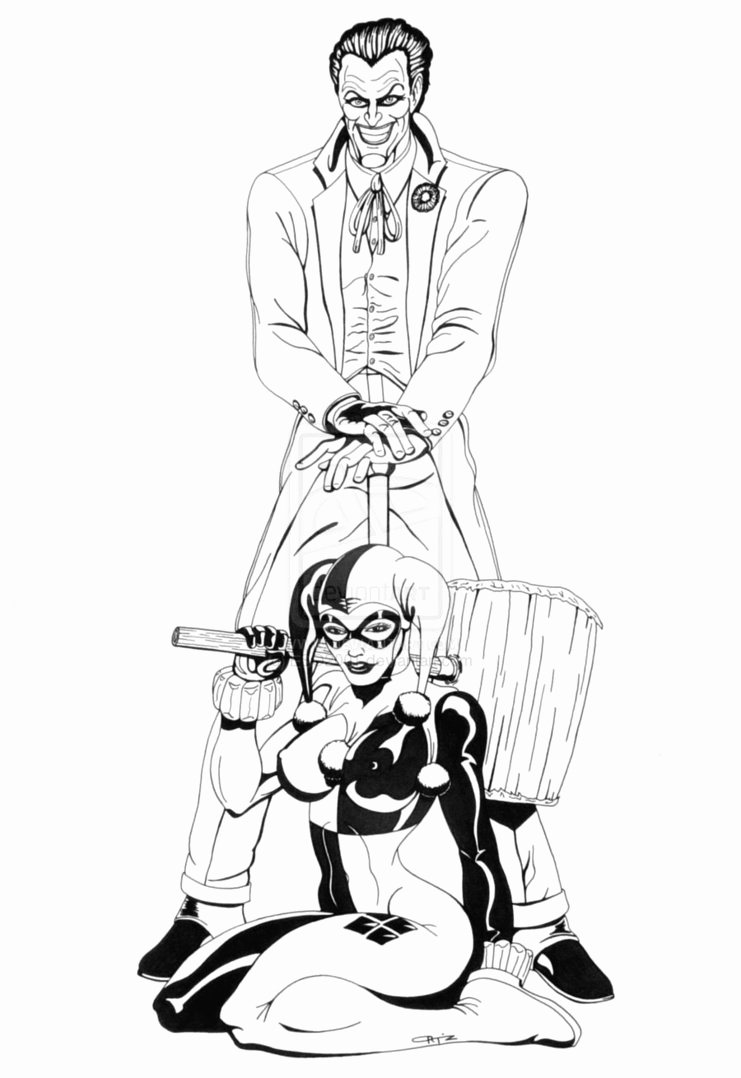741x1078 Harley Quinn And The Joker Coloring Pages Gallery Harley Quinn