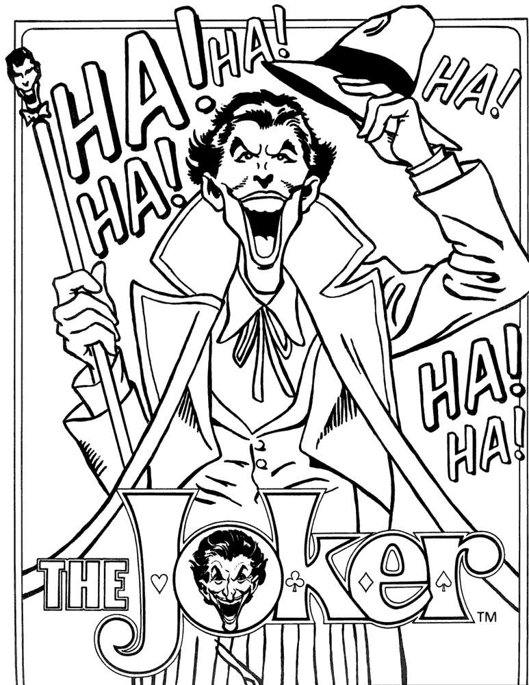 773x1000 Joker And Harley Quinn Coloring Pages Best Joker Coloring Pages