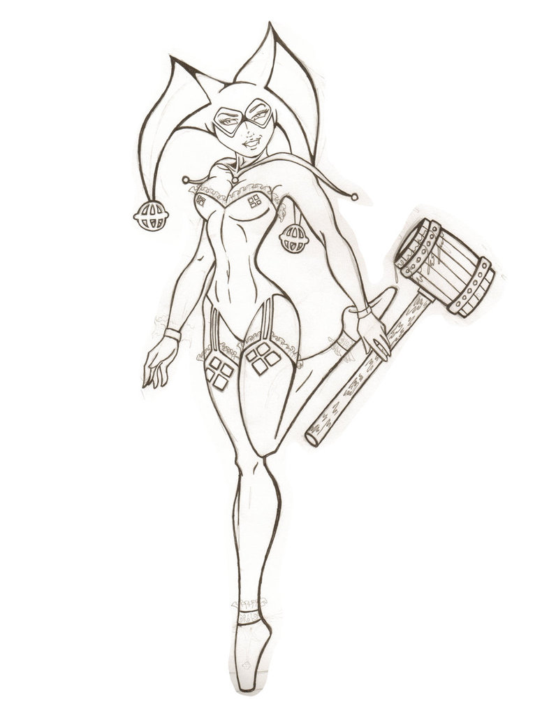 786x1017 Stylist And Luxury Harley Quinn Coloring Pages Remarkable Az
