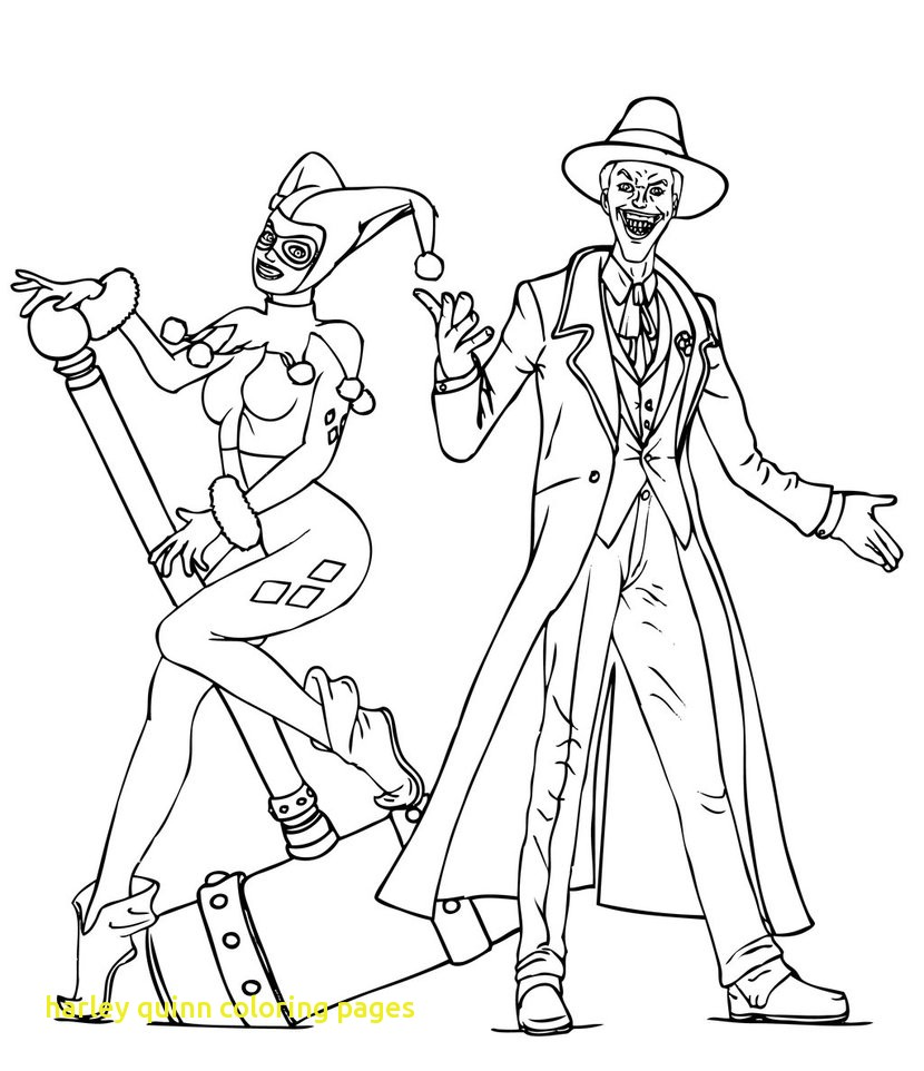 830x962 Tested Harley Quinn Coloring Pages For Adults