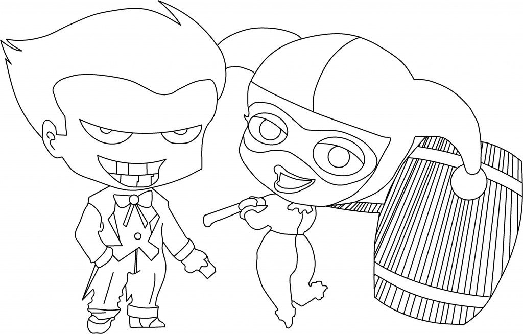 1024x654 Harley Quinn Coloring Pages