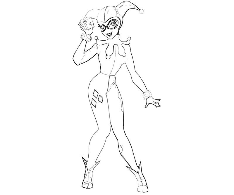 800x667 Harley Quinn Coloring Pages To Download And Print For Free