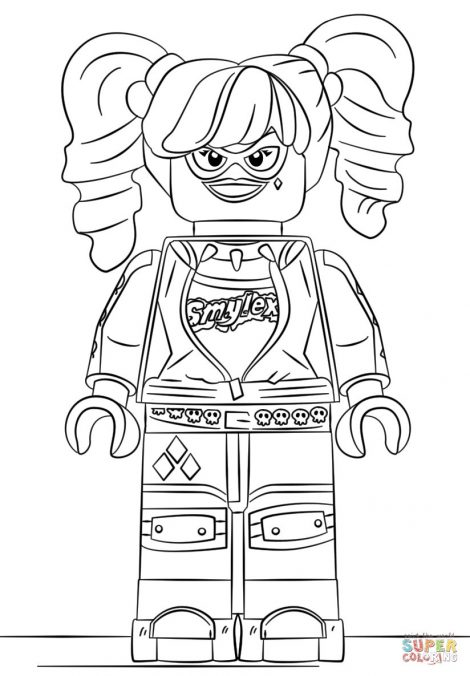 470x676 Pictures Of Harley Quinn Coloring Pages