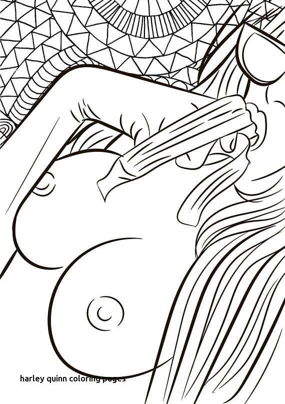 570x806 Harley Quinn Coloring Pages