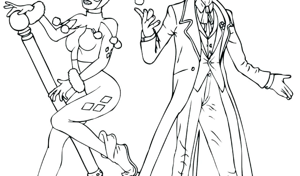 1024x600 Harley Quinn Coloring Pages Printable Kids Coloring Coloring Pages