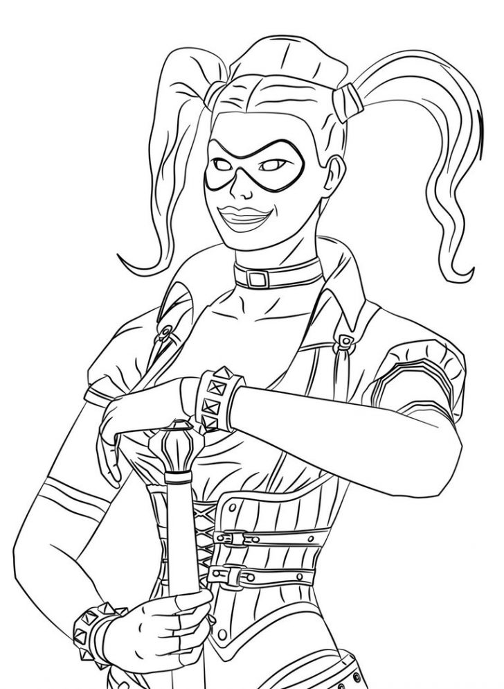 728x994 Harley Quinn Coloring Pages