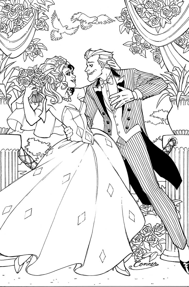 790x1200 New Joker And Harley Quinn Coloring Pages Design Free Coloring Book